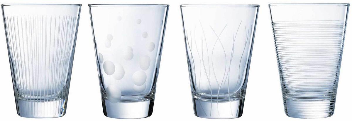 Набор стаканов ОСЗ Лаунж Клаб, 300 мл, 4 штN5284Набор ОСЗ Лаунж Клаб состоит из четырех стаканов, выполненных из высококачественного стекла с оригинальным дизайном.Стаканы предназначены для подачи воды, сока и других напитков. Они излучают приятный блеск и издают мелодичный звон.Такой набор прекрасно оформит праздничный стол и создаст приятную атмосферу за романтическим ужином. Можно мыть в посудомоечной машине.