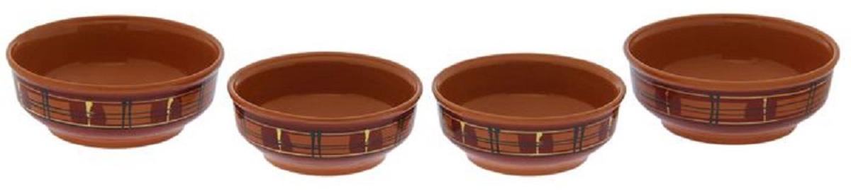 Набор мисок Борисовская керамика Стандарт, 4 штОБЧ00000042С помощью набора красивых керамических мисок вы сможете очень интересно сервировать стол. Миски в современном стиле отлично впишутся в ваш интерьер. Посуда выполнена из керамики. В состав набора входят две миски средние и две миски малые.