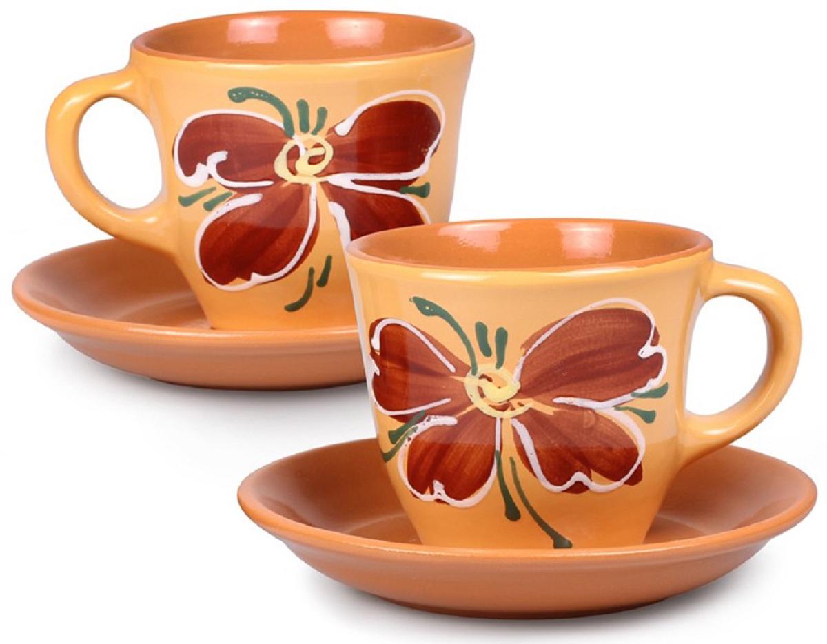 Набор чайный Борисовская керамика Стандарт, 4 предмета набор чайный декостек живая природа подсолнух 4 предмета 1919596
