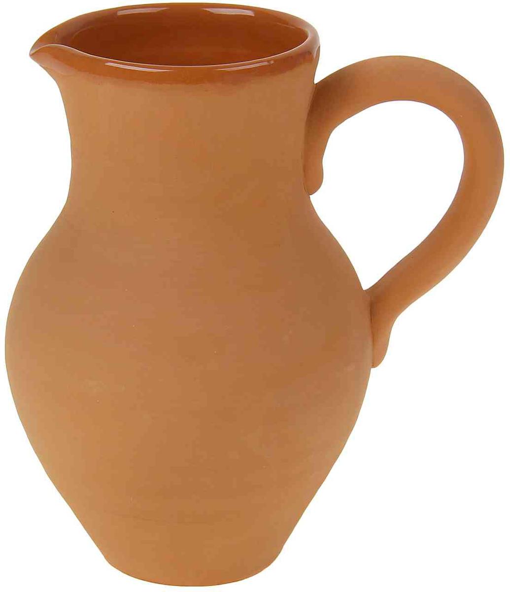 Кувшин Борисовская керамика Стандарт, 2 лОБЧ00000443Кувшин, изготовленный из глины, удобен для использования подмолоко и другие напитки. Наши предки не зря использовали глиняную посуду для хранения молока, в керамическом кувшинеоно дольше остается свежим и не скисает. Глиняный кувшинне только отлично впишется в любой интерьер кухни, но и станет отличнымподарком.