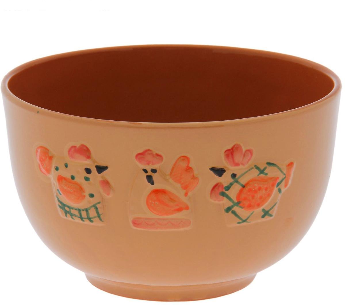 """Салатник Борисовская керамика """"Кукареку"""" выполнен из высококачественной керамики.   Яркий дизайн придется по вкусу и ценителям классики, и тем, кто предпочитает утонченность и изысканность.  Салатник идеально подойдет для сервировки стола и станет отличным подарком к любому празднику."""