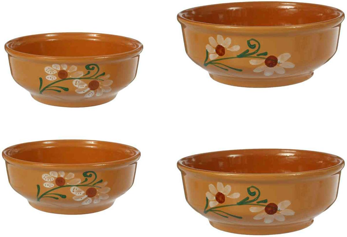 С помощью набора красивых керамических мисок вы сможете очень интересно сервировать стол. Миски в современном стиле отлично впишутся в ваш интерьер. Посуда выполнена из керамики. В набор входят четыре миски разного диаметра и объема.