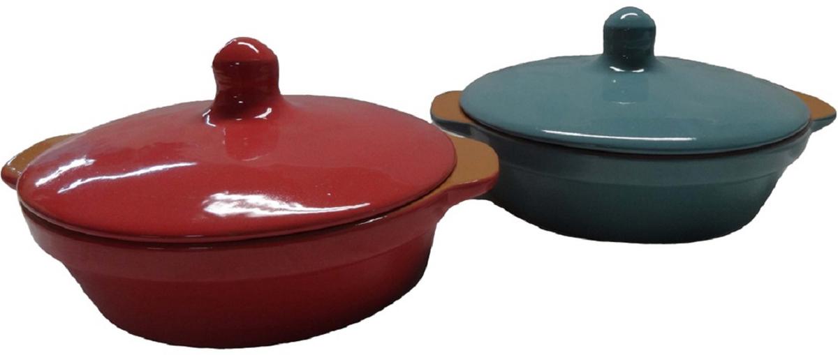 Сковорода Борисовская керамика Радуга, с крышкойРАД14456737Сковорода с крышкой РАД14456737. Материал: Керамика. Объем: 0,9