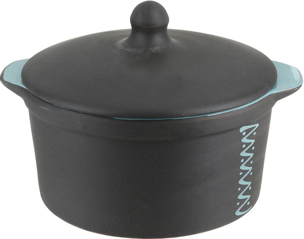Кастрюля для запекания Борисовская керамика Чугун с крышкой, 1 л