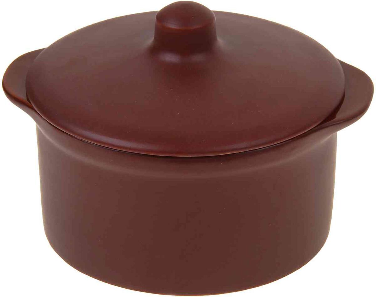 Кастрюля для запекания Борисовская керамика Шелк с крышкой, 500 млШЛК00000410Кастрюля для запекания Борисовская керамика Шелк выполнена из высококачественной термостойкой керамики. Материал абсолютно безопасен для здоровья, не содержит вредных веществ. Кастрюля оснащена удобными боковыми ручкамии керамической крышкой. Она плотно прилегает к краям посуды, сохраняя аромат блюд.