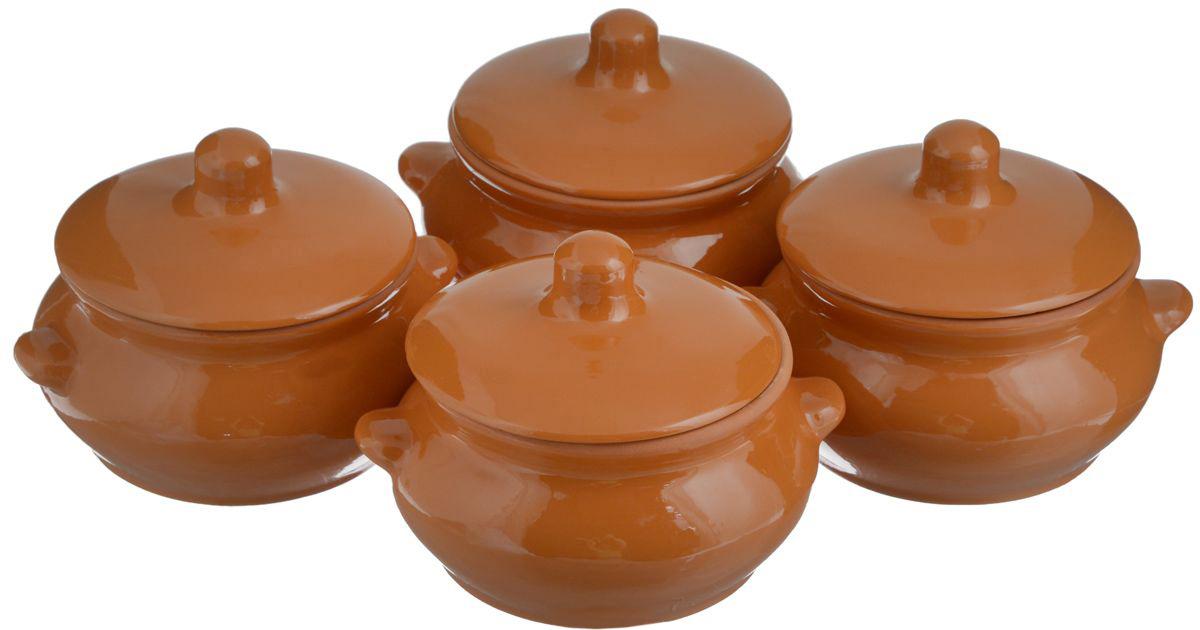 Набор горшочков для запекания Борисовская керамика Лакомка, 500 мл, 4 шт. РАД00000097