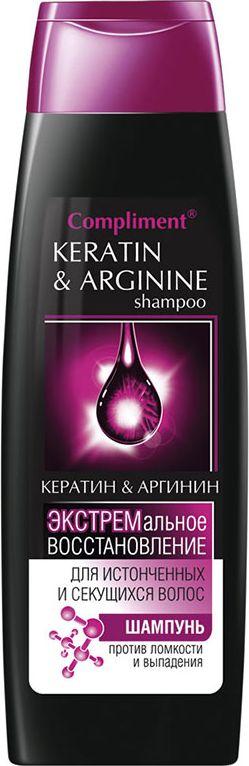 ComplimentШампунь Кератин и аргинин, экстремальное восстановление, 400 мл