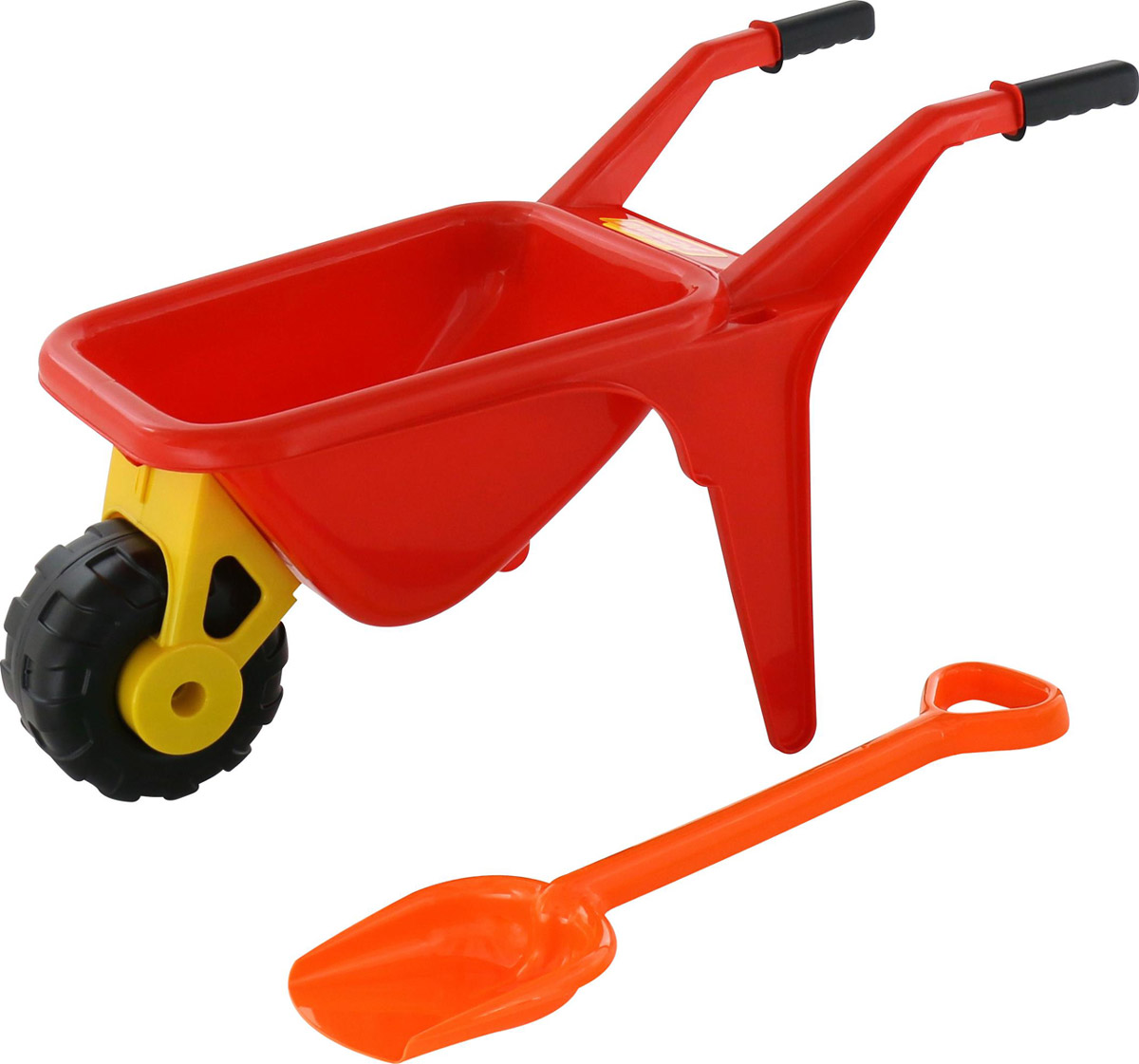 Полесье Набор игрушек для песочницы Тачка Садовод с лопатой цвет красный полесье игрушка пластм тачка садовод полесье