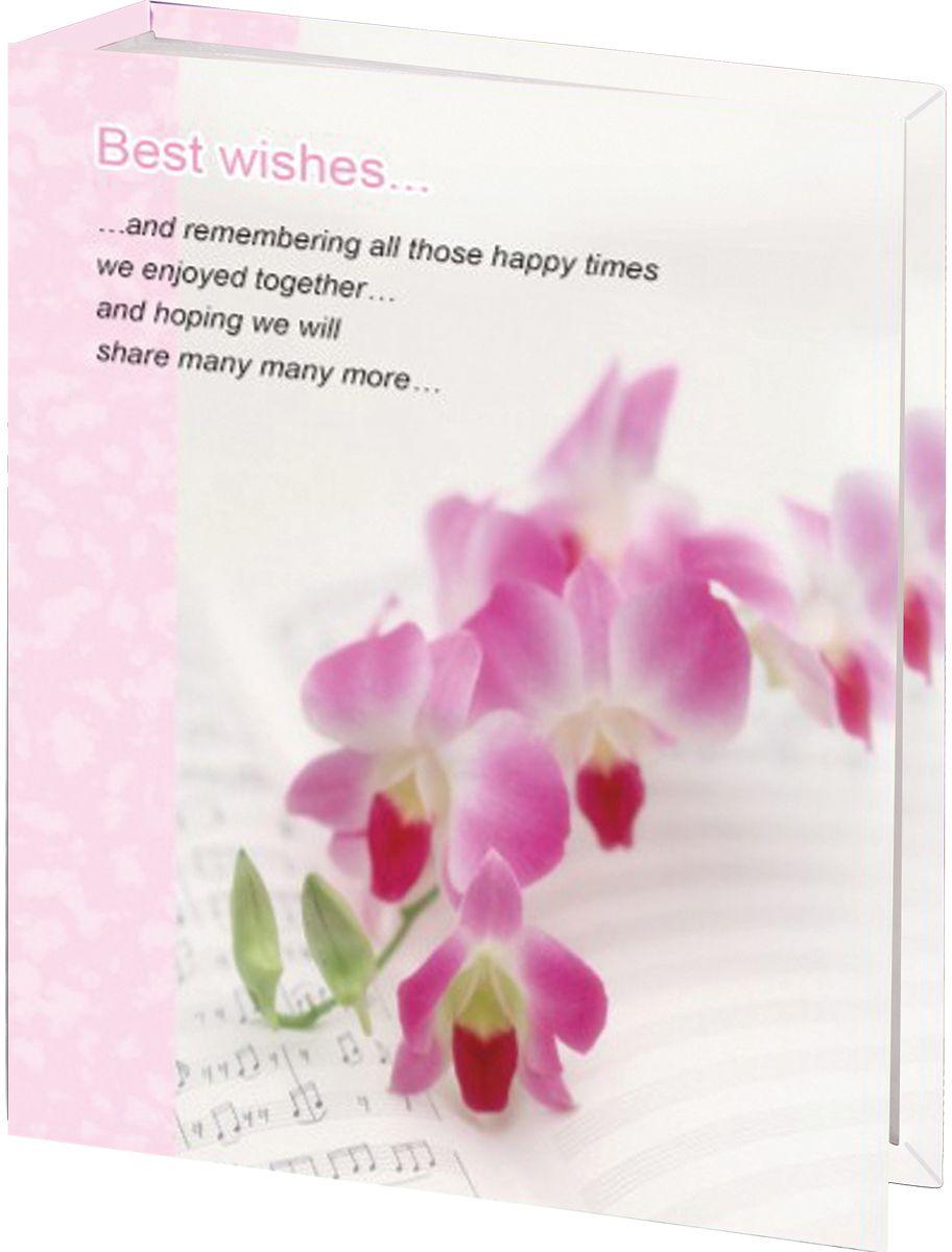 Фотоальбом Brauberg Орхидеи, 100 фотографий, 10 x 15 см390663Фотоальбом с нежным дизайном обложки вмещает в себя 100 фотографий размером 10х15 см, каждая из которых помещается в отдельном прозрачном кармане. Страницы изготовлены из полипропилена и прочно прикреплены к корешку.