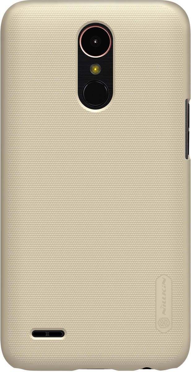 Nillkin Super Frosted Shield чехол-накладка для LG K10 (2017) , Gold6902048139527Накладка Super Frosted Shield для LG K10 (2017)