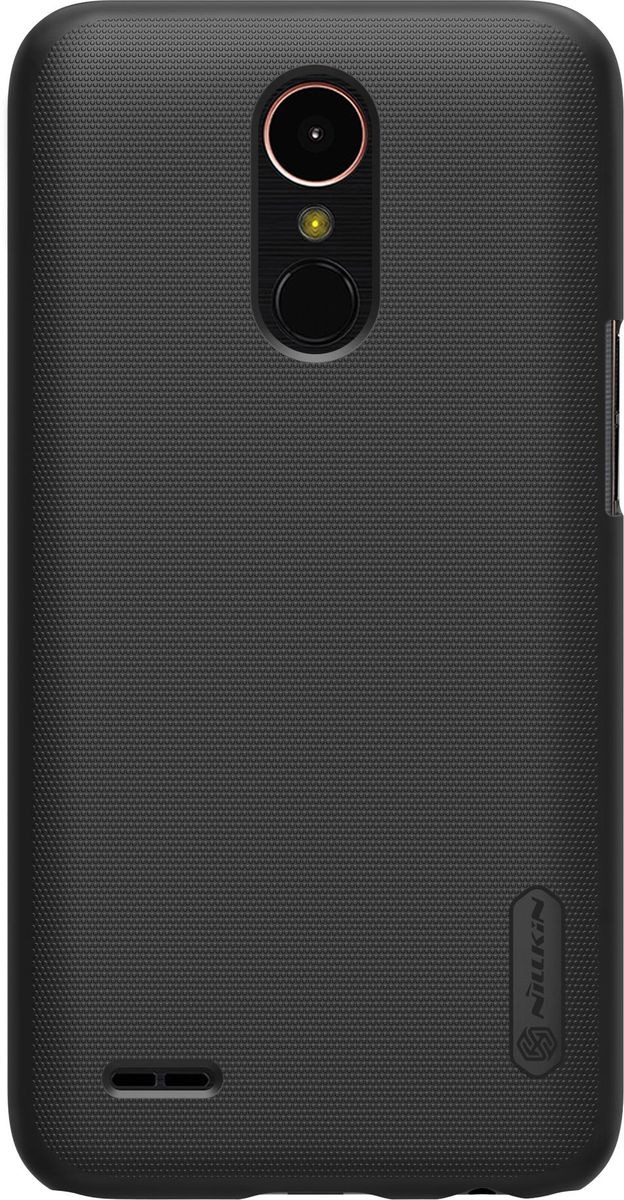 Nillkin Super Frosted Shield чехол-накладка для LG K10 (2017) , Black nillkin super frosted shield чехол для lenovo s930 black