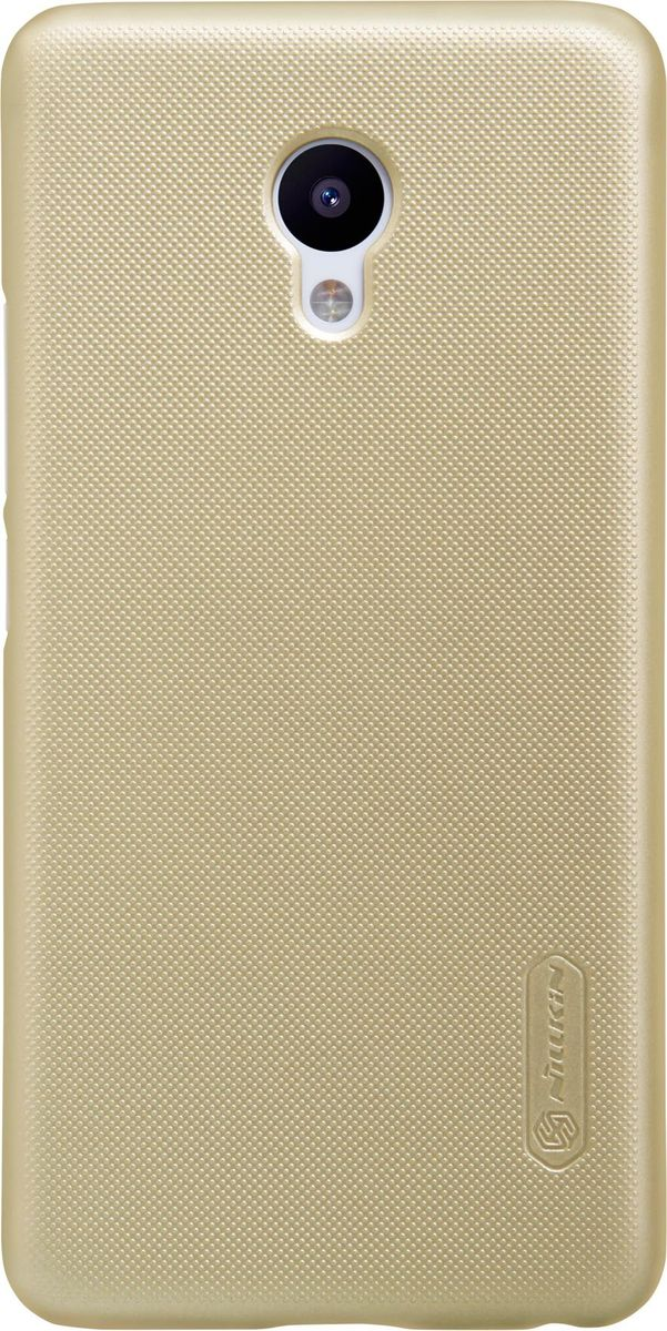Nillkin Super Frosted Shield чехол-накладка для Meizu M5, Gold6902048133426Накладка Super Frosted Shield для Meizu M5