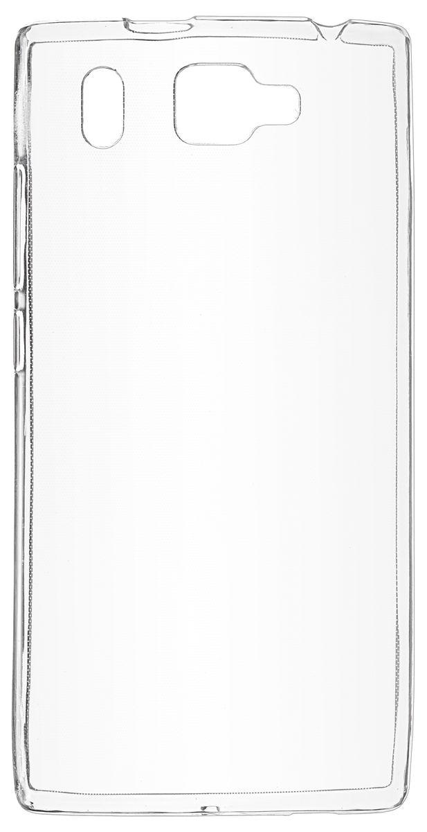 Skinbox Slim Silicone чехол-накладка для Prestigio Grace Q5, Transparent чехлы для телефонов skinbox накладка skinbox slim silicone color для apple iphone 7