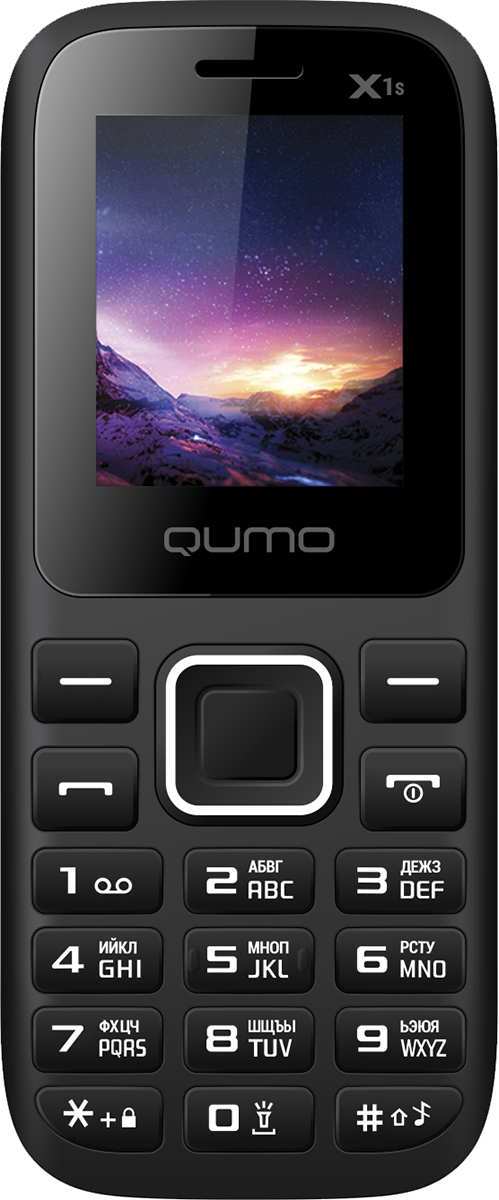 Qumo Push X1S, Black мобильный телефон qumo push mini white