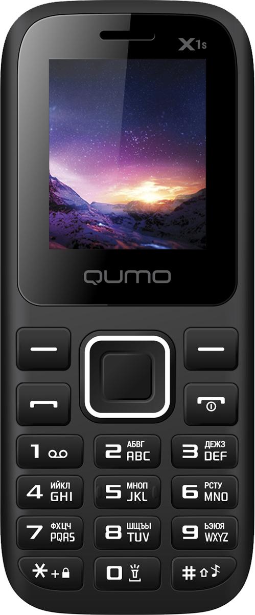 Qumo Push X1S, Black сотовый телефон qumo push x7 black