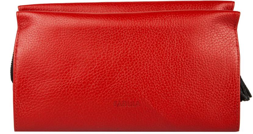 Косметичка женская Fabula, цвет: красный, черный. KS.33.BK