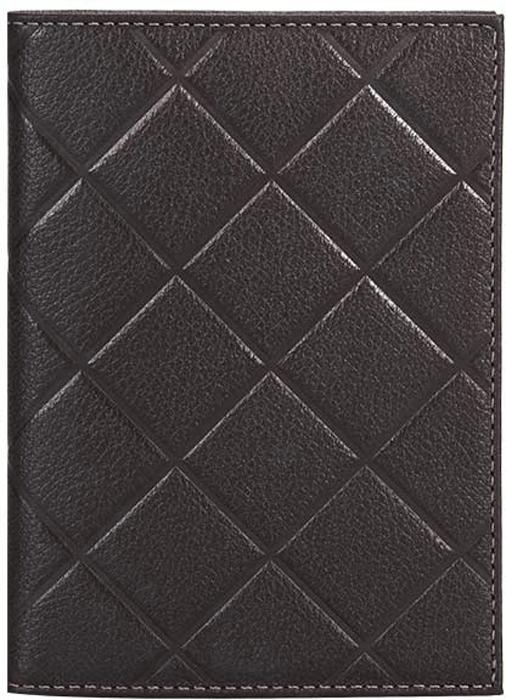 Обложка для паспорта женская Fabula, цвет: темно-коричневый. O.89.FP обложка для паспорта женская fabula london цвет белый o 85 sp