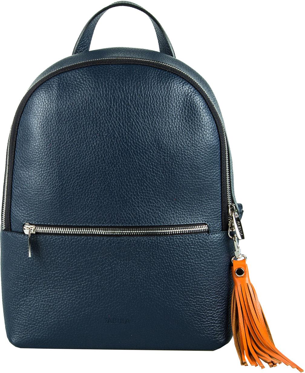 Сумка-рюкзак женская Fabula, цвет: темно-синий, оранжевый. S.273.BK