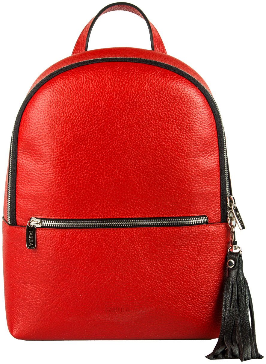 Сумка-рюкзак женская Fabula, цвет: красный, черный. S.273.BK
