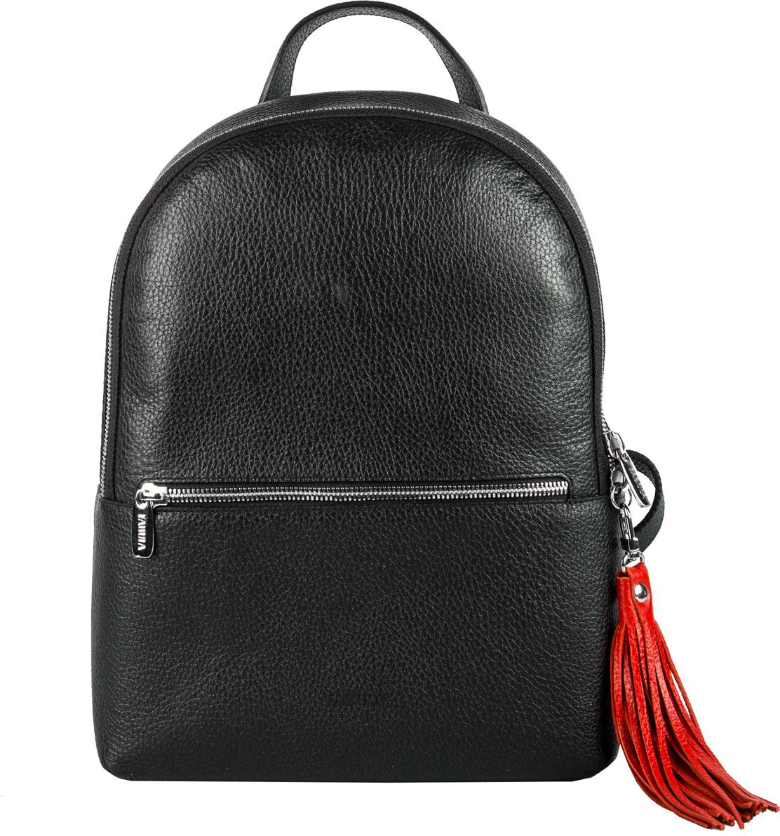 Сумка-рюкзак женская Fabula, цвет: черный, красный. S.273.BK