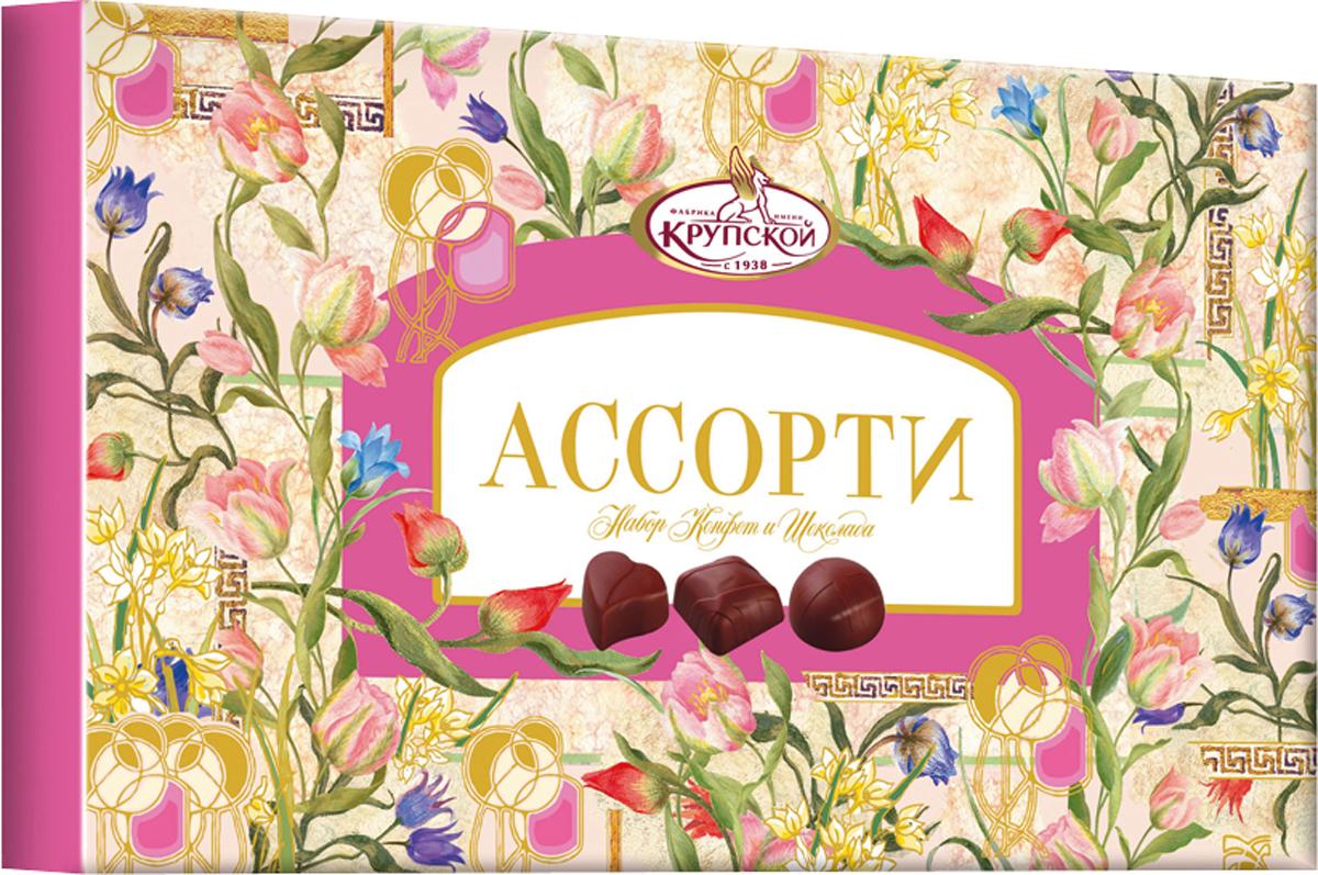 Фабрика имени Крупской Ассорти набор конфет, 290 г шоколадные годы конфеты ассорти 190 г