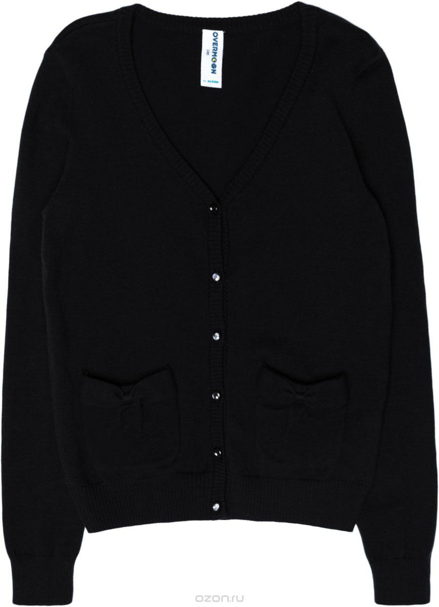 Кардиган для девочки Overmoon by Acoola Blear, цвет: черный. 21200130004_100. Размер 140 кардиган acoola acoola ac008egwde78