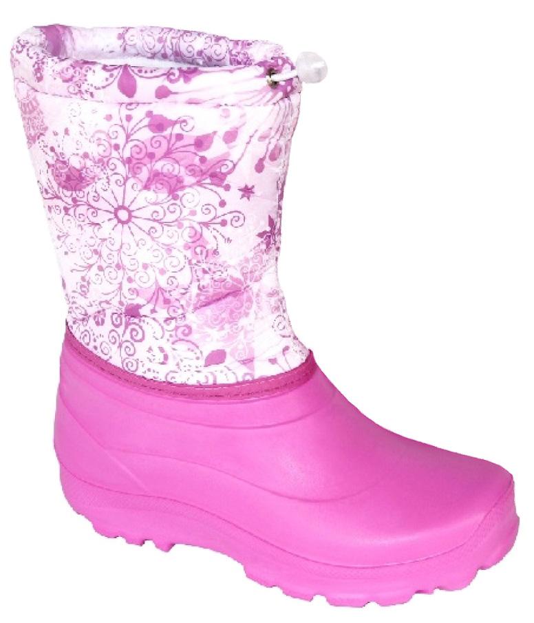 Сапоги женские Дарина Зимушка, цвет: розовый. Размер 38-39Д404/38-39розовыйЗимние сапоги Зимушка - удобные, теплые. Выдержат морозы до -20С. Удобный шнур-резинкапозволяет плотно зафиксировать сапог вокруг ноги и не позволит снегу попасть внутрь сапога.Вид литья: цельнолитьевое.Высота: 25 см.Материал подошвы: ЭВА.Cоставтекстильного элемента: фиксатор, люверсы, шнур-резина.Название ткани: Оксфорд 210 +ППУ.Свойства ткани Оксфорд (Oxford) - это прочная ткань из синтетических волокон (нейлонаили полиэстера) определенной структуры с нанесенным полиуретановым покрытием (PU илиPVC). Это покрытие обеспечивает водонепроницаемость ткани оксфорд и препятствуетнакоплению грязи между волокнами. Рулонный пенополиуретан (ППУ) широко используется вобувной промышленности.Не съёмный.Кол-во слоев: 3.Вид ткани: ворсин + стелькаЭВА.Состав ткани однослойное ворсованное полотно из полиэстера. Поверхностнаяплотность 400 г/м2. Используется как альтернатива искусственному меху.Швы 0,5-0,7. Технология шва стачной шов с открытым срезом, стачной шов с обметанным срезом, окантовкаверхнего среза тесьмой.Сезон: зима.