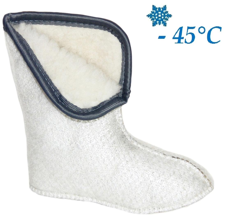 Утеплитель Дарина Ice Land, фольгированный, цвет: белый. Размер 45-47МОРОЗ/45-47Температурный режим -45.Съёмный.Кол-во слоев 5.Чулок выполнен из овечьей шерсти — очень мягкого меха. Мягкий мех, овечья шерсть 80%, ПЭ 20% нетканное трикотажное полотно с гидрофобным волокном позволяют сохранять Ваши ноги в сухости и тепле. Так же вкладыш имеет металлизированную фольгу для отражения холода и мембранную сетку для защиты фольги.