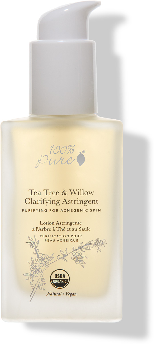 100% Pure Коллекция Чайное дерево и Ива: Органический анти-акне тонер для очистки пор, 118 мл - Косметика по уходу за кожей