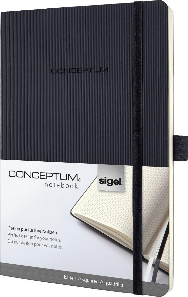 Sigel Блокнот Conceptum Softcover 97 листов в клетку формат A5 цвет черныйCO320Блокноты Sigel Conceptum Hardcover имеют собственный узнаваемый стиль и являются лауреатами нескольких международных дизайнерских премий. Превосходное исполнение, качество, которое видно в каждой детали, безукоризненный дизайн и множество интеллектуальных функций делают Sigel Conceptum Hardcover особенными. Блокнот Sigel Conceptum Hardcover в твердом переплете с эксклюзивной рифленой поверхностью softcover (мягкая волна) - идеальный компаньон для бизнеса с большим пространством для заметок. Он идеально подходит для хранения документов форматом до A4, защищая контракты и другие документы.Практичные элементы есть в каждом блокноте Sigel Conceptum Hardcover. Эластичная резинка-застежка, петля для ручки, по 2 наклейки на торец и обложку блокнота для подписи, карман для документов и визиток, оглавление, две закладки и нумерация страниц позволяют в совершенстве организовать все ваши заметки, мысли и комментарии. Многочисленные интеллектуальные функции и идеальный дизайн - именно эта комбинация делает блокноты Sigel Conceptum Hardcover отличными от остальных. Эластичная застежка: Блокнот надежно закрывается эластичной резинкой. Вы можете положить внутрь любые бумаги, такие как квитанции, билеты и др. Ничто не потеряется; а будет под рукой, когда это необходимо. Петля для ручки: Усиленная эластичная петля надежно удерживает пишущий инструмент на месте. Независимо от того, предпочитаете ли вы шариковую, перьевую или капиллярную ручку или карандаш, они всегда готовы к использованию. Оглавление: Возможность сделать оглавление обеспечивает идеальную организацию. Просто запишите раздел и номер страницы в блокноте. Внутренний карман: Карман для быстрого доступа находится на форзаце. Он идеально подходит для аккуратного хранения счетов, квитанций или билетов и их быстрого поиска. Ленточные закладки для страниц с важными заметками: Блокноты Sigel Conceptum Hardcover поставляются с двумя лентами-закладкам
