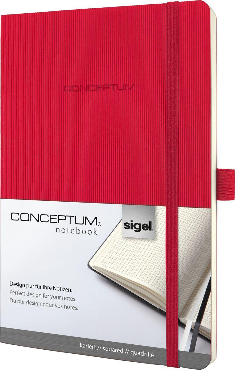 Sigel Блокнот Conceptum Hardcover цвет красный 97 листов в клеткуCO324Блокноты CONCEPTUM имеют собственный узнаваемый стиль и являются лауреатами нескольких международных дизайнерских премий. Превосходное исполнение, качество, которое видно в каждой детали, безукоризненный дизайн и множество интеллектуальных функций делают CONCEPTUM особенными. Блокнот CONCEPTUM Softcover. Мягкий переплет (гибкая обложка) с эксклюзивной рифленой поверхностью softcover (мягкая волна), приятной на ощупь. Содержит 194 пронумерованные страницы, в том числе 20 перфорированных листов в конце блокнота. Сертификат PEFC ответственного лесопользования. Наивысшая функциональность в каждой деталиПрактичные элементы есть в каждом блокноте CONCEPTUM . Эластичная или магнитная застежка, петля для ручки, карман для документов и визиток, оглавление, две закладки и нумерация страниц позволяют в совершенстве организовать все ваши заметки, мысли и комментарии. Многочисленные интеллектуальные функции и идеальный дизайн - именно эта комбинация делает блокноты CONCEPTUM отличными от остальных.Эластичная застежка:Блокнот надежно закрывается эластичной резинкой. Вы можете положить внутрь любые бумаги, такие как квитанции, билеты и др. Ничто не потеряется; а будет под рукой, когда это необходимо.Петля для ручки:Усиленная эластичная петля надежно удерживает пишущий инструмент на месте. Независимо от того, предпочитаете ли вы шариковую, перьевую или капиллярную ручку или карандаш, они всегда готовы к использованию.Оглавление:Возможность сделать оглавление обеспечивает идеальную организацию. Просто запишите раздел и номер страницы в блокноте.Внутренний карман:Карман для быстрого доступа находится на форзаце. Он идеально подходит для аккуратного хранения счетов, квитанций или билетов и их быстрого поиска.Ленточные закладки для страниц с важными заметками:Блокноты CONCEPTUM поставляются с двумя лентами-закладками разного цвета, позволяя легко и быстро находить важную информацию. Цвет лент перекликается с цветом б