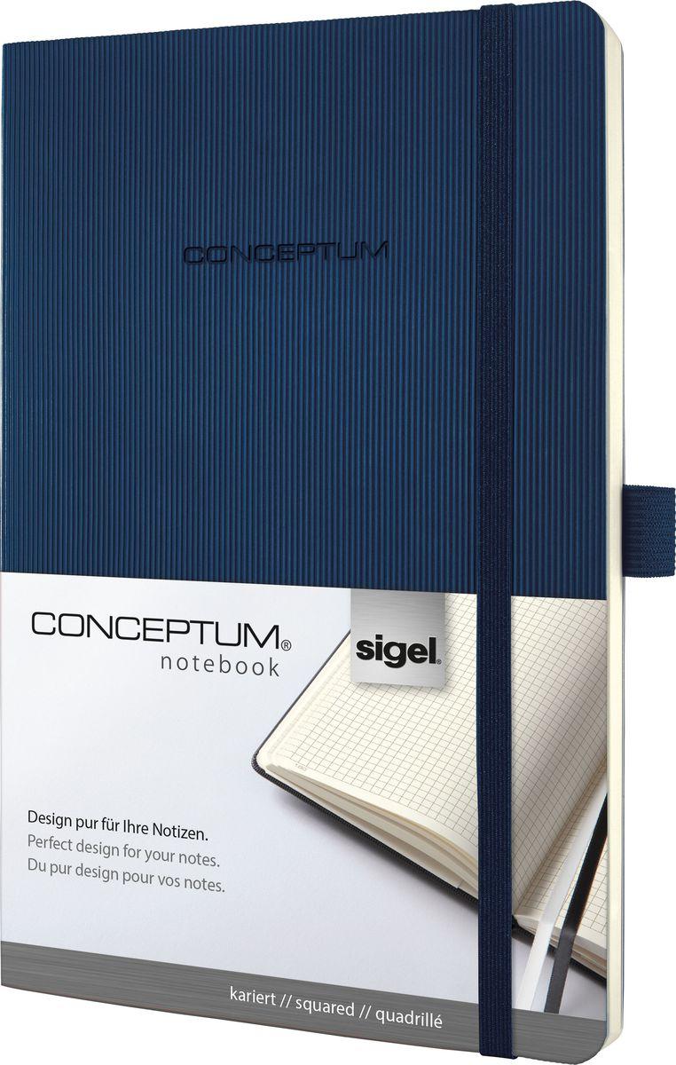 Sigel Блокнот Conceptum Hardcover цвет темно-синий 97 листов в клеткуCO326Блокноты CONCEPTUM имеют собственный узнаваемый стиль и являются лауреатами нескольких международных дизайнерских премий. Превосходное исполнение, качество, которое видно в каждой детали, безукоризненный дизайн и множество интеллектуальных функций делают CONCEPTUM особенными. Блокнот CONCEPTUM Softcover. Мягкий переплет (гибкая обложка) с эксклюзивной рифленой поверхностью softcover (мягкая волна), приятной на ощупь. Содержит 194 пронумерованные страницы, в том числе 20 перфорированных листов в конце блокнота. Сертификат PEFC ответственного лесопользования. Наивысшая функциональность в каждой деталиПрактичные элементы есть в каждом блокноте CONCEPTUM . Эластичная или магнитная застежка, петля для ручки, карман для документов и визиток, оглавление, две закладки и нумерация страниц позволяют в совершенстве организовать все ваши заметки, мысли и комментарии. Многочисленные интеллектуальные функции и идеальный дизайн - именно эта комбинация делает блокноты CONCEPTUM отличными от остальных.Эластичная застежка:Блокнот надежно закрывается эластичной резинкой. Вы можете положить внутрь любые бумаги, такие как квитанции, билеты и др. Ничто не потеряется; а будет под рукой, когда это необходимо.Петля для ручки:Усиленная эластичная петля надежно удерживает пишущий инструмент на месте. Независимо от того, предпочитаете ли вы шариковую, перьевую или капиллярную ручку или карандаш, они всегда готовы к использованию.Оглавление:Возможность сделать оглавление обеспечивает идеальную организацию. Просто запишите раздел и номер страницы в блокноте.Внутренний карман:Карман для быстрого доступа находится на форзаце. Он идеально подходит для аккуратного хранения счетов, квитанций или билетов и их быстрого поиска.Ленточные закладки для страниц с важными заметками:Блокноты CONCEPTUM поставляются с двумя лентами-закладками разного цвета, позволяя легко и быстро находить важную информацию. Цвет лент перекликается с цвет