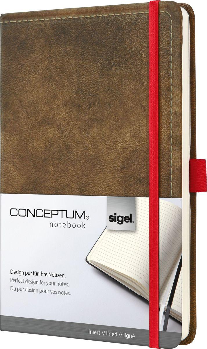 Sigel Блокнот Conceptum Vintage 97 листов в линейку цвет коричневыйCO603Блокноты Sigel Conceptum Vintage имеют собственный узнаваемый стиль и являются лауреатами нескольких международных дизайнерских премий. Превосходное исполнение, качество, которое видно в каждой детали, безукоризненный дизайн и множество интеллектуальных функций делают Sigel Conceptum Vintage особенными.Серия Vintage - это яркая эстетика. Их высококачественная обложка со стильно обработанной поверхностью под замшу и покрытием soft-touch отмечена многими наградами. Блокноты обязательно будут впечатлять, будучи аксессуарами с уникальным дизайном.Блокнот Sigel Conceptum Vintage в твердом переплете со специальным мягким покрытием и тиснением под замшу. Эластичная застежка и петля для ручки в красном цвете, контрастном обложке. Содержит 194 пронумерованные страницы, в том числе 20 перфорированных листов. Место для оглавления, карман на форзаце для быстрого доступа, архивный карман с отделением на 10 визитных карточек, 2 ленточные закладки разного цвета. Сертификат PEFC ответственного лесопользования. Эластичная застежка: Блокнот надежно закрывается эластичной резинкой. Вы можете положить внутрь любые бумаги, такие как квитанции, билеты и др. Ничто не потеряется; а будет под рукой, когда это необходимо. Петля для ручки: Усиленная эластичная петля надежно удерживает пишущий инструмент на месте. Независимо от того, предпочитаете ли вы шариковую, перьевую или капиллярную ручку или карандаш, они всегда готовы к использованию. Оглавление: Возможность сделать оглавление обеспечивает идеальную организацию. Просто запишите раздел и номер страницы в блокноте. Внутренний карман: Карман для быстрого доступа находится на форзаце. Он идеально подходит для аккуратного хранения счетов, квитанций или билетов и их быстрого поиска. Ленточные закладки для страниц с важными заметками: Блокноты Sigel Conceptum Vintage поставляются с двумя лентами-закладками разного цвета, позволяя легко и быстро находить важную информацию.