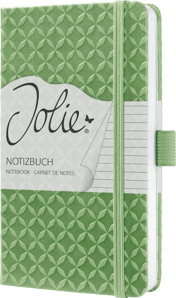 Sigel Блокнот Jolie Flair цвет светло-зеленый 87 листов в линейку JN112JN112Серия Flair - Яркие цвета весь год.Что может быть лучше, чем планировать поездки с близкими, семейные праздники, встречи с друзьями. С красочными блокнотами Jolie Flair это еще приятнее. С ними Вам понравится делать записи и вести любые дела. Ваши заметки заслуживают красивого обрамления. Блокнот Jolie с его рифленой поверхностью - идеальный личный помощник для женщин с позитивным настроением. Используйте его как личный дневник, записывайте идеи во время мозгового штурма, составляйте список покупок, планируйте дела в офисе - делайте Jolie таким, каким он нужен именно вам. Такие детали, как порхающая бабочка на обратной стороне блокнота или форзац в стиле дизайна обложки, - это небольшие дополнительные удовольствия, которые украсят ваш день.Изысканный блокнот с рифленой поверхностью.174 страницы (в т.ч. 16 перфорированных листов) в линейку,эластичная застежка-резинка, ленточная закладка, петля для ручки, внутренний карман на внутренней стороне задней обложки с практичным слотом. Красивая деталь: форзац повторяет дизайн обложки.Размер 95х150х16 мм.