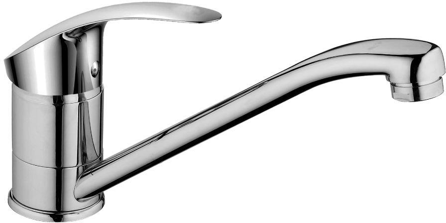 Смеситель Decoroom, для кухни, с поворотным изливом, цвет: хром. DR68018 для кухни