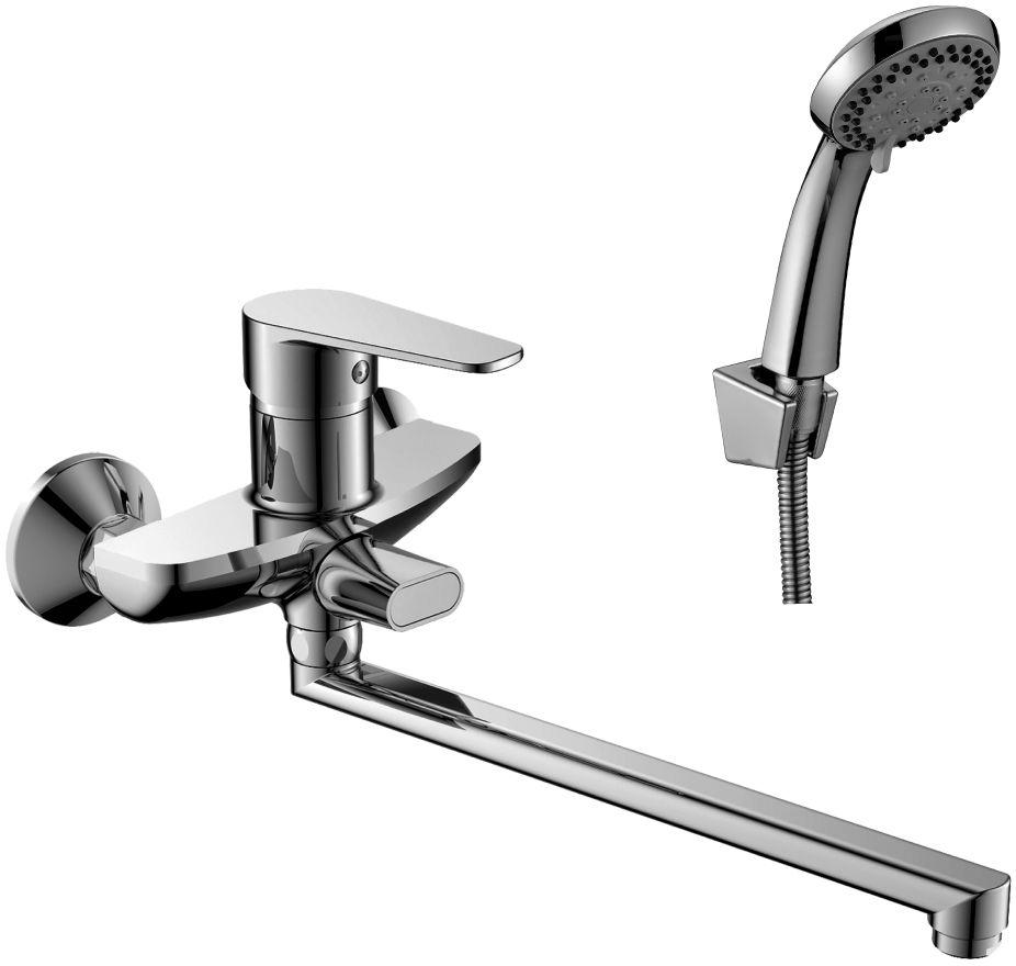Смеситель Decoroom, для ванны, универсальный, с поворотным изливом, 300 мм. DR69043 смеситель для кухни vidima уно с литым поворотным изливом ba241aa