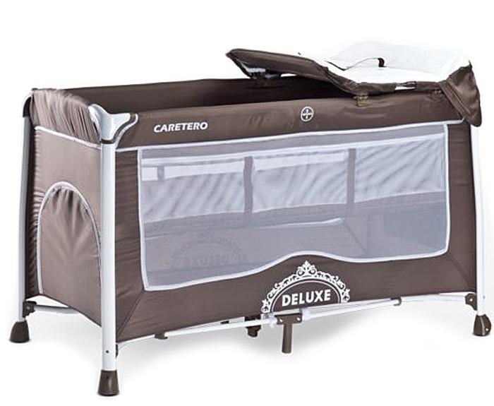 Caretero Манеж-кроватка Deluxe цвет коричневый -  Детская комната