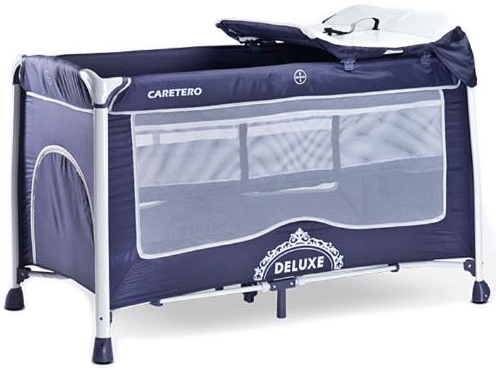 Caretero Манеж-кроватка Deluxe цвет синий -  Детская комната