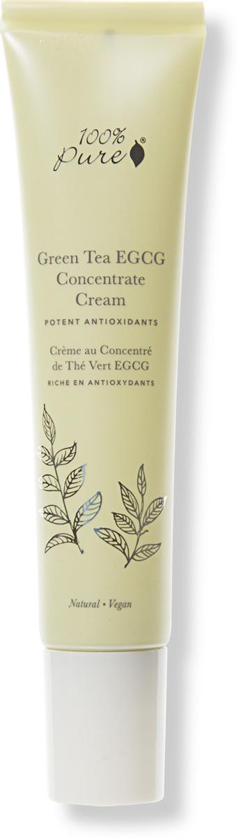 100% Pure Коллекция Антиоксиданты Зеленого чая: Органический защитный крем для лица, 40 мл скрабы 100% pure органический скраб для тела миндаль и мёд 443 мл