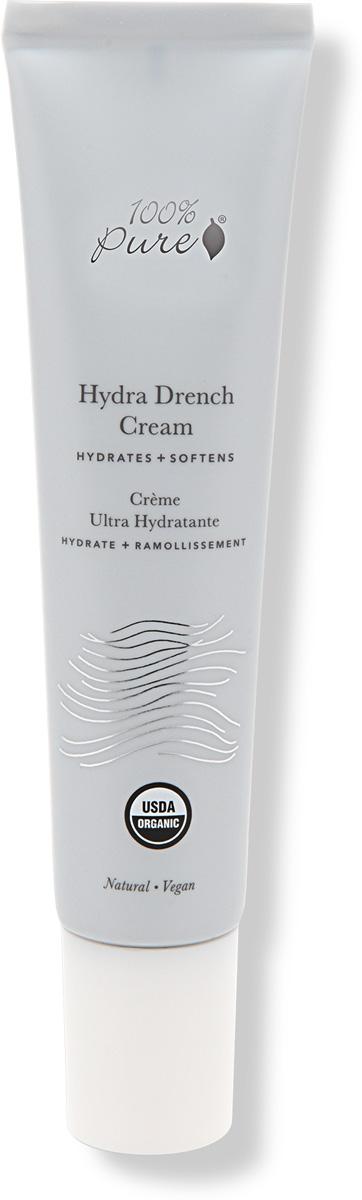 100% Pure Органический супер-увлажняющий гель-крем для лица, 40 мл скрабы 100% pure органический скраб для тела миндаль и мёд 443 мл