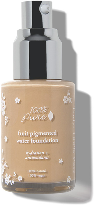 100% Pure Жидкий тональный крем для лица с фруктовыми пигментами Белый персик, 30 мл4811329023351Тональная основа (жидкий тональный крем) придает коже безупречный сияющий цвет лица, очищает тон кожи и скрывает недостатки. Кожа выглядит естественно. Содержит винный ресвератрол и альфа-липоевую кислоту. Содержащийся в основе экстракт календулы успокаивает кожу, а алоэ и зеленый чай увлажняют и омолаживают. Не содержит синтетических химических веществ, искусственных ароматов, химических консервантов или любых других токсинов.