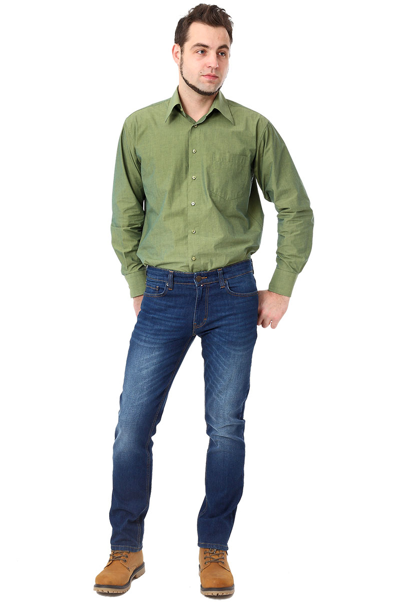 Джинсы мужские F5, цвет: синий. 275039_w.dark. Размер 33-32 (48/50-32)275039_w.darkДжинсы F5 выполнены из высококачественного эластичного хлопка. Джинсы застегиваются на пуговицу в поясе и ширинку на застежке-молнии, дополнены шлевками для ремня. Джинсы имеют классический пятикарманный крой: спереди модель дополнена двумя втачными карманами и одним маленьким накладным кармашком, а сзади - двумя накладными карманами.