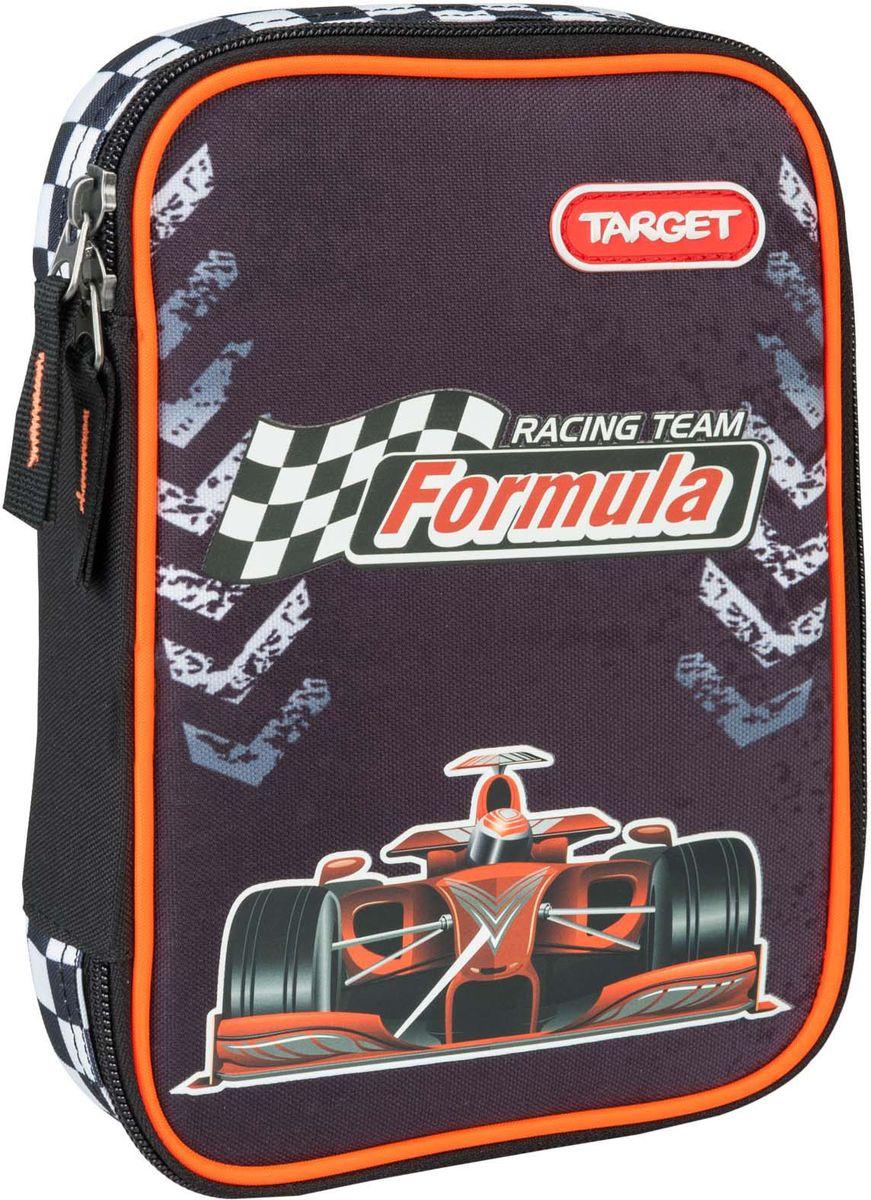 Target Пенал Racing Team цвет черный с наполнением -  Пеналы