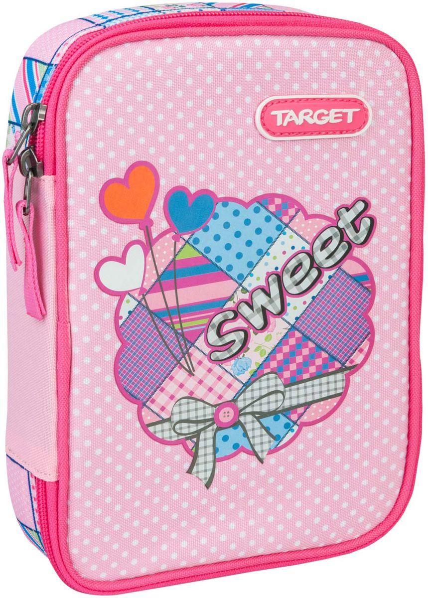 Target Collection Пенал Sweet Bow цвет розовый с наполнением -  Пеналы
