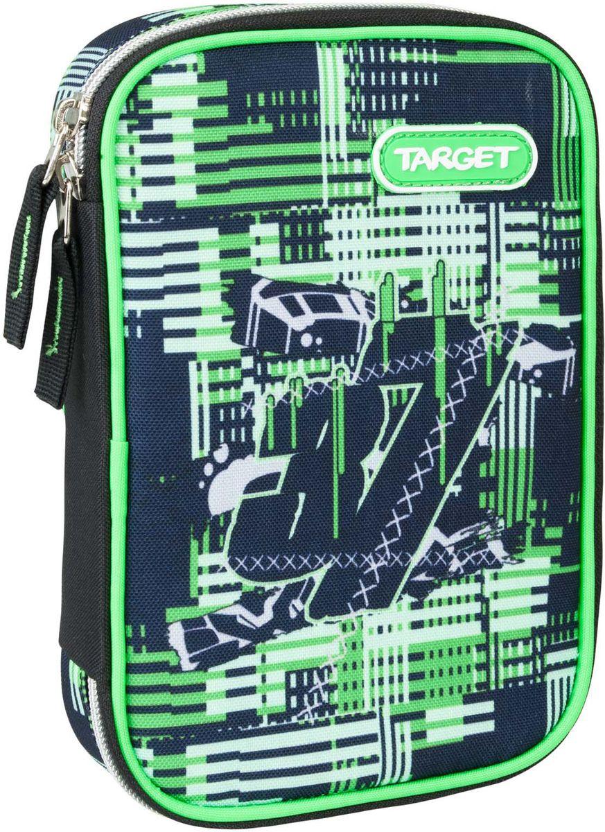 Target Пенал Confused цвет зеленый с наполнением, Target Collection