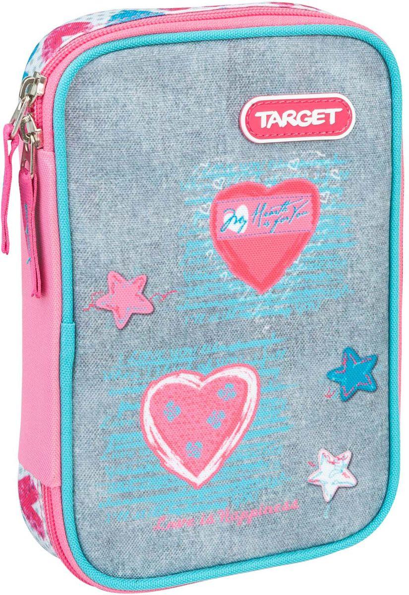 Target Пенал Jersey Love цвет голубой с наполнением пеналы target collection пенал с канцтоварами fc bavaria 2