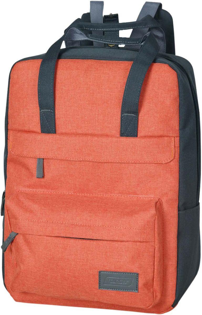 Target Рюкзак детский Orange Amber цвет оранжевый21469;21469Рюкзак суперлегкий имеет яркий рисунок и изготовлен из современных, прочных материалов. Подходит для школы, так и для отдыха. Он имеет три больших отделения, закрывающих молнию, а на боковой стороне расположены два небольших кармана. В комплект рюкзака входит сумка для еды.