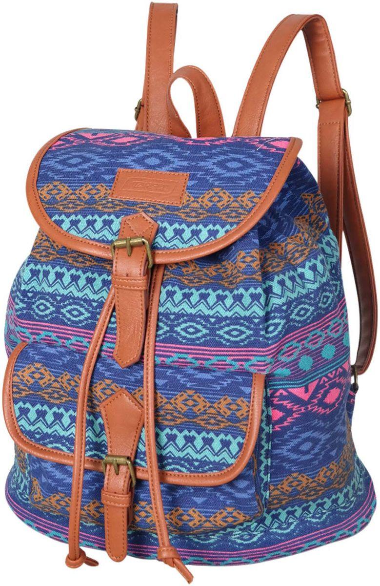 Target Рюкзак детский Vista Blue цвет синий21479;21479Легкий городской рюкзак имеет яркий рисунок и изготовлен из современных, прочных материалов. Модель украшена вставками и ремешками из эко-кожи. У него одно большое отделения, а на внешней стороне рюкзака расположен большой накладной карман с клапаном. Особенности рюкзака: плечевые лямки можно отрегулировать, плотная ручка в верхней части рюкзака.