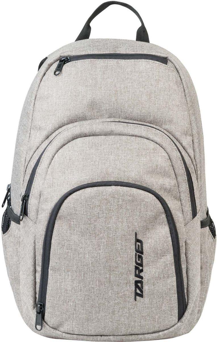 Target Рюкзак детский XY 3 цвет серый21542;21542Рюкзак изготовлен из современных, прочных материалов. Подходит для школы, так и для отдыха. Он имеет три больших отделения, закрывающих молнию, а на боковой стороне расположены два небольших кармана на резинке.