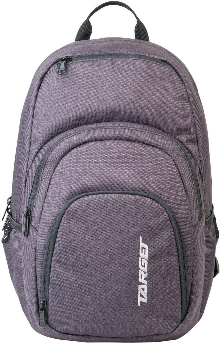 Target Рюкзак детский XY 4 цвет серый21543Рюкзак изготовлен из современных, прочных материалов. Подходит для школы, так и для отдыха. Он имеет три больших отделения, закрывающих молнию, а на боковой стороне расположены два небольших кармана на резинке.